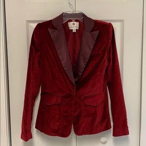 EUC Altuzarra for Target Red Velvet Tuxedo Blazer